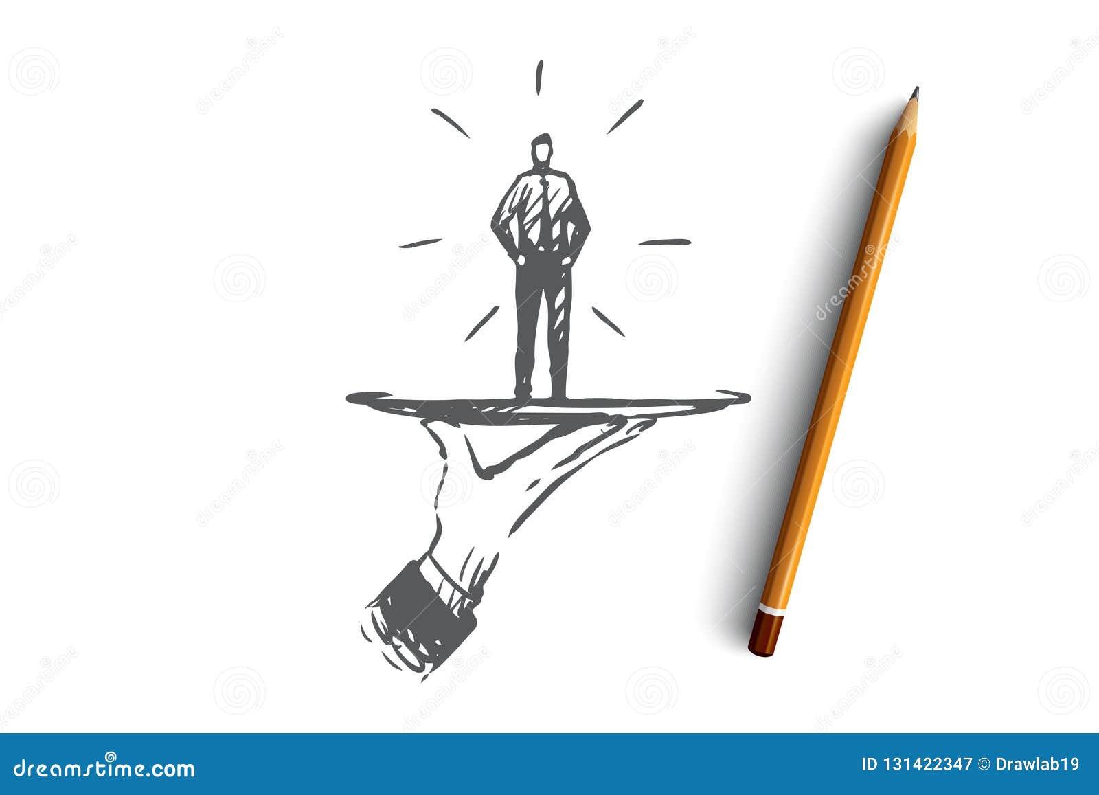 顾客,事务,服务,帮助,客户概念 手拉的被隔绝的传染媒介