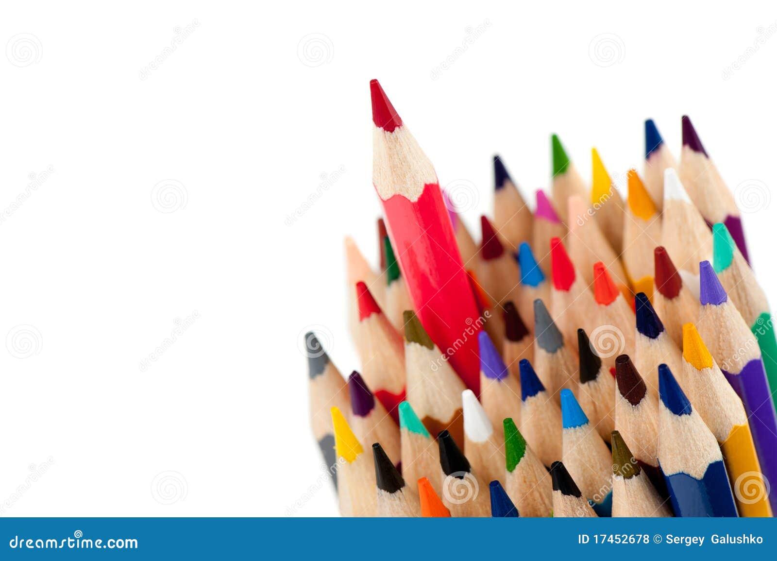 领导先锋铅笔红色