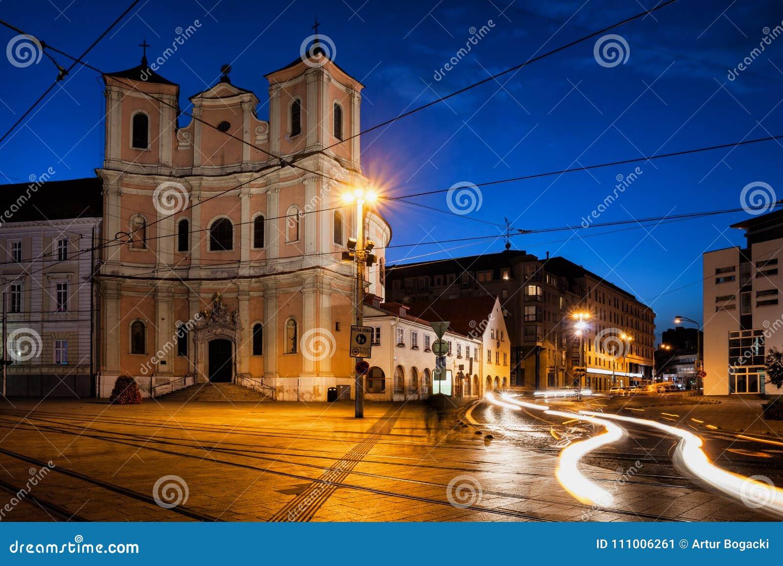 领港教会在布拉索夫在夜之前