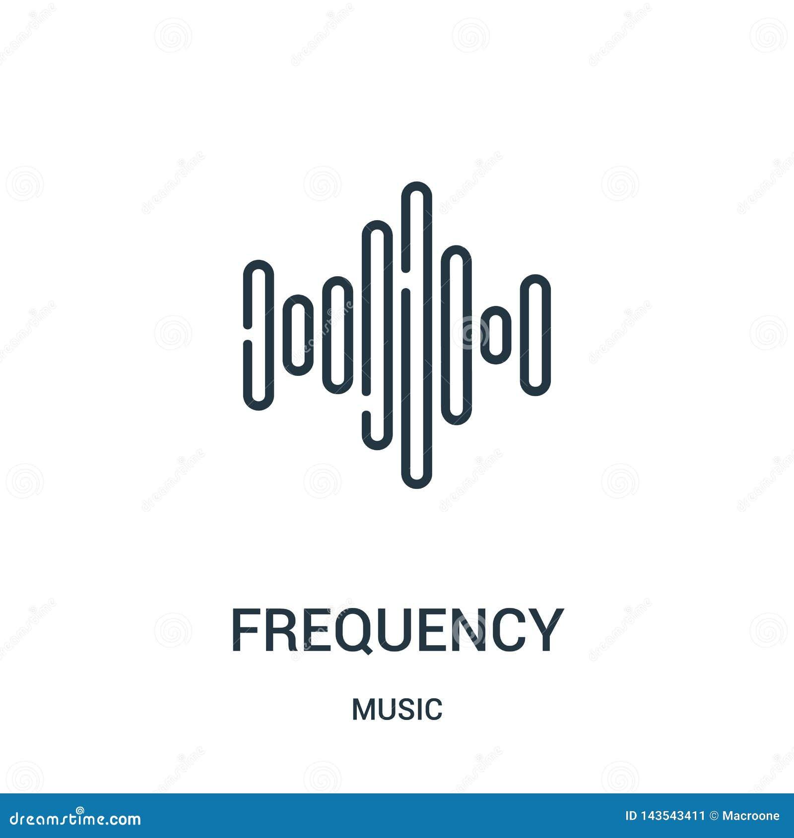 频率从音乐汇集的象传染媒介 稀薄的线路频率概述象传染媒介例证