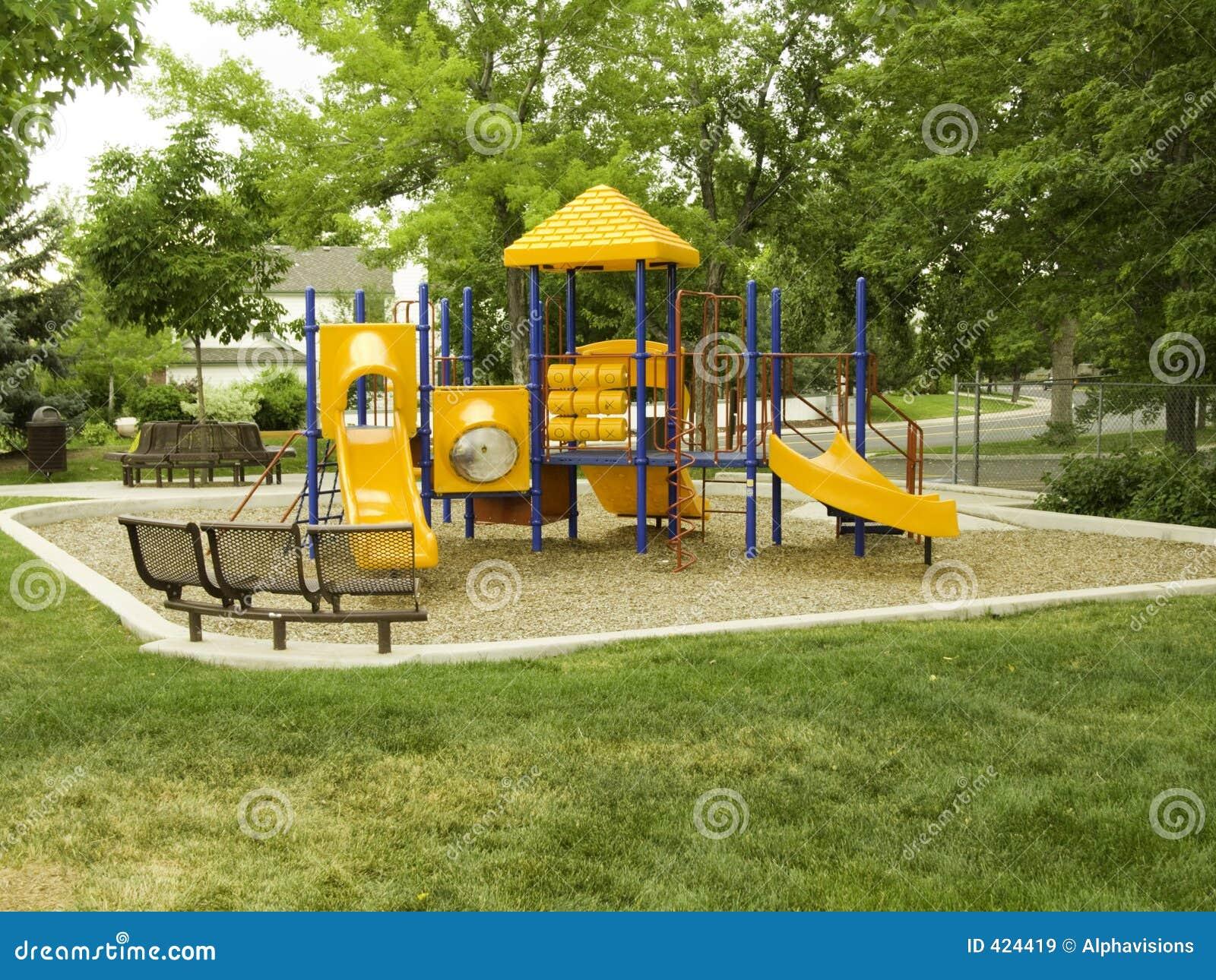 颜色主要公园的操场