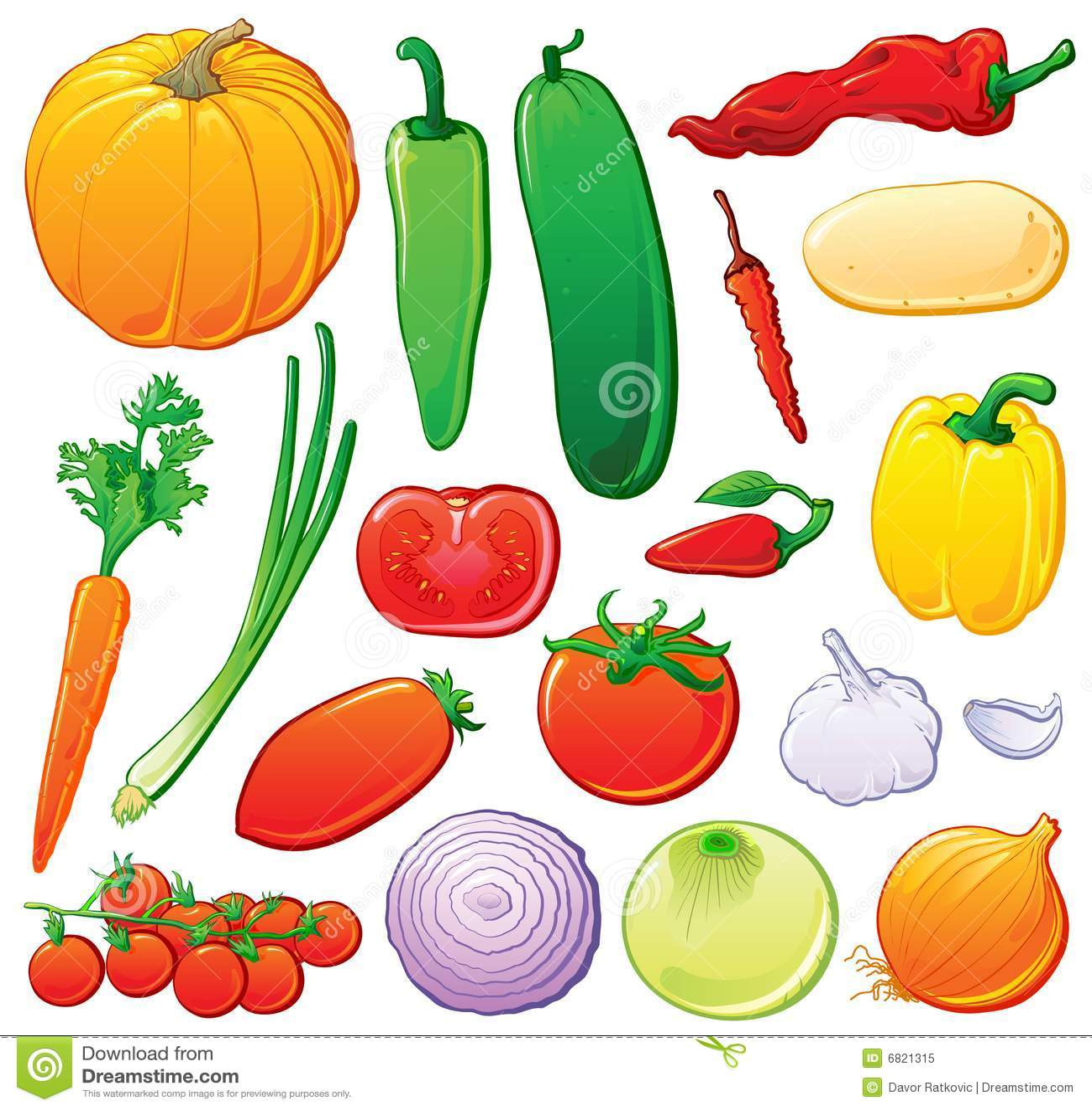 颜色分级显示设置了蔬菜