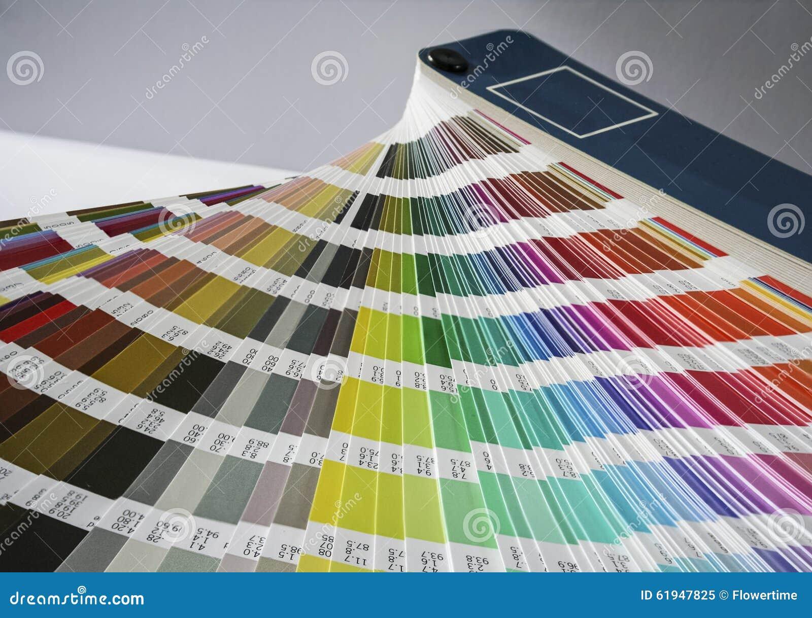 颜色样片爱好者打印和图形设计的