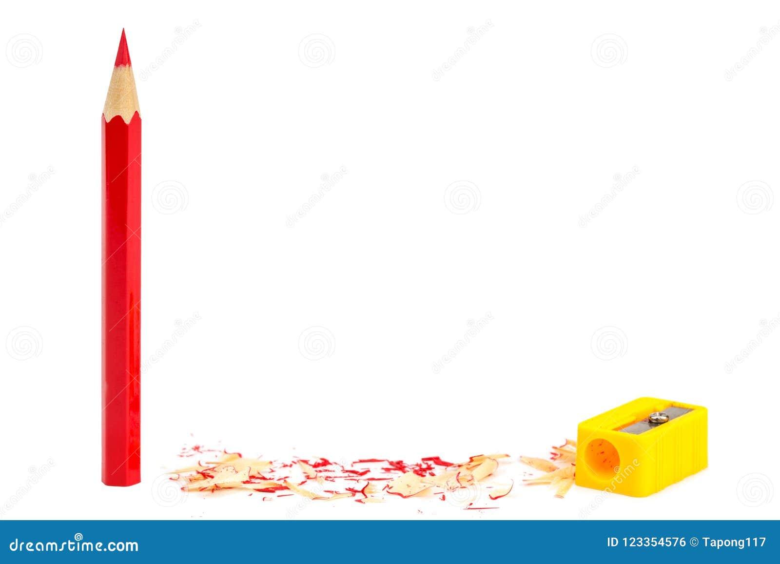 颜色铅笔和磨削器