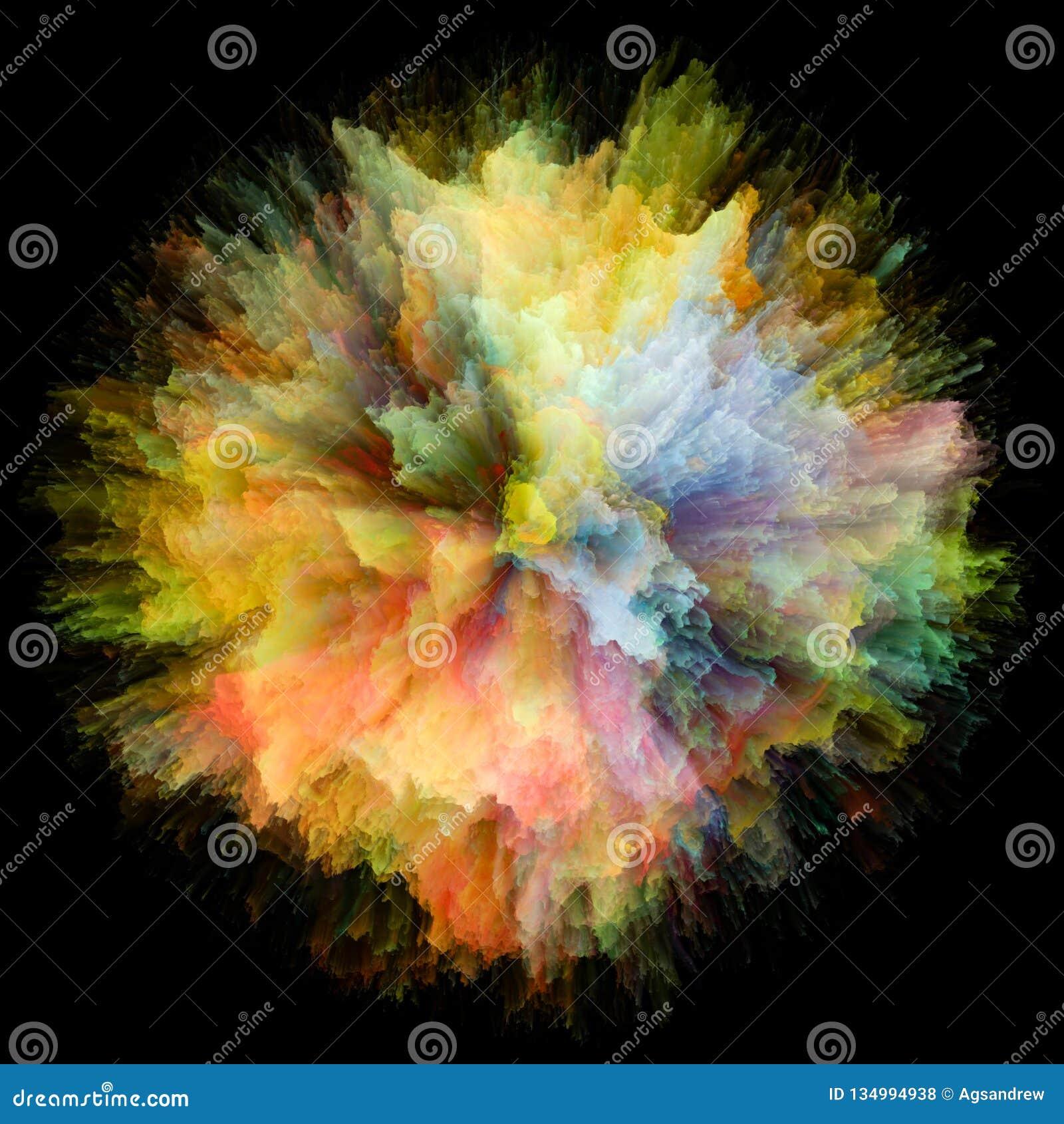 颜色飞溅爆炸方式
