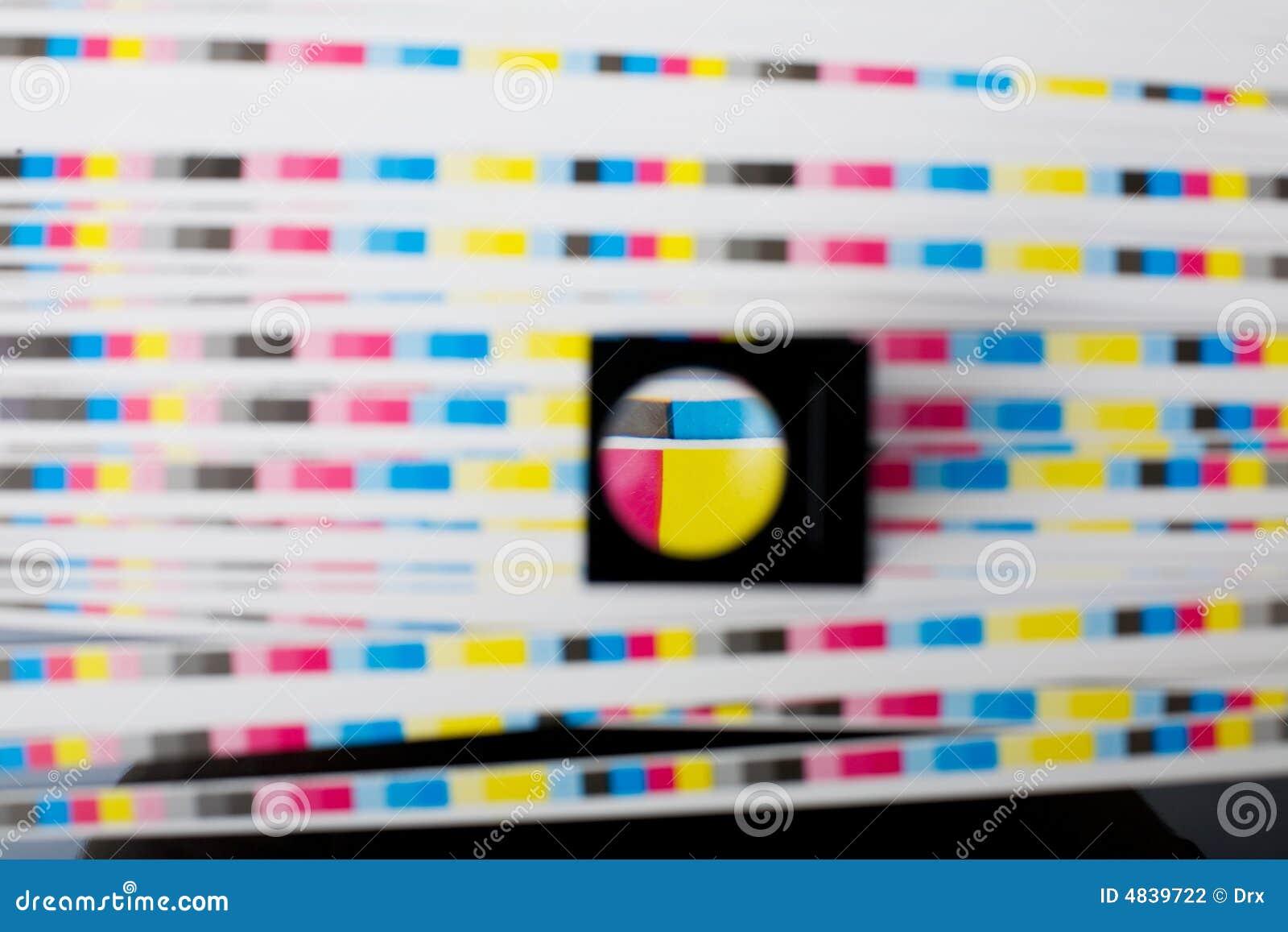 颜色menagement印刷质量页
