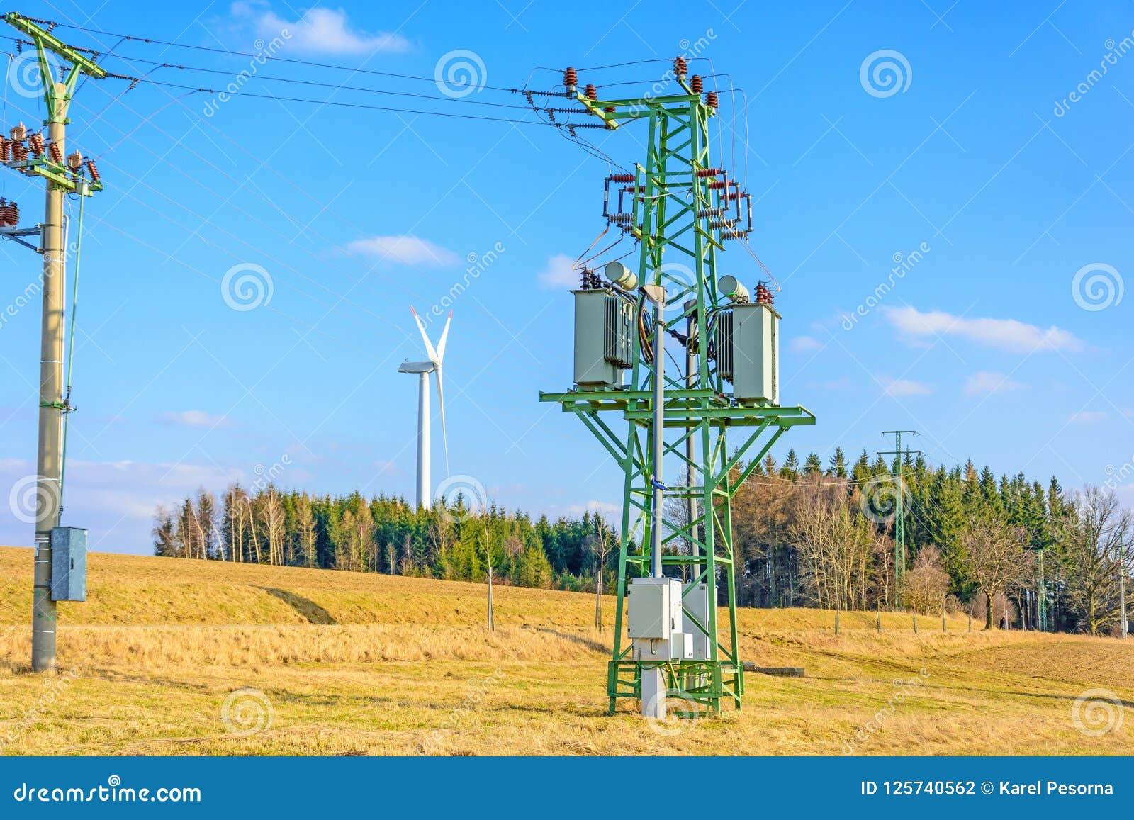 风力植物在捷克作为绿色能量的来源