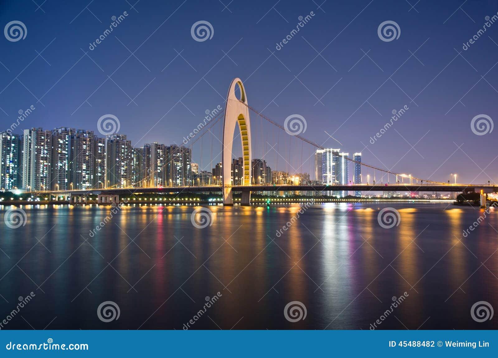 风景广州的晚上