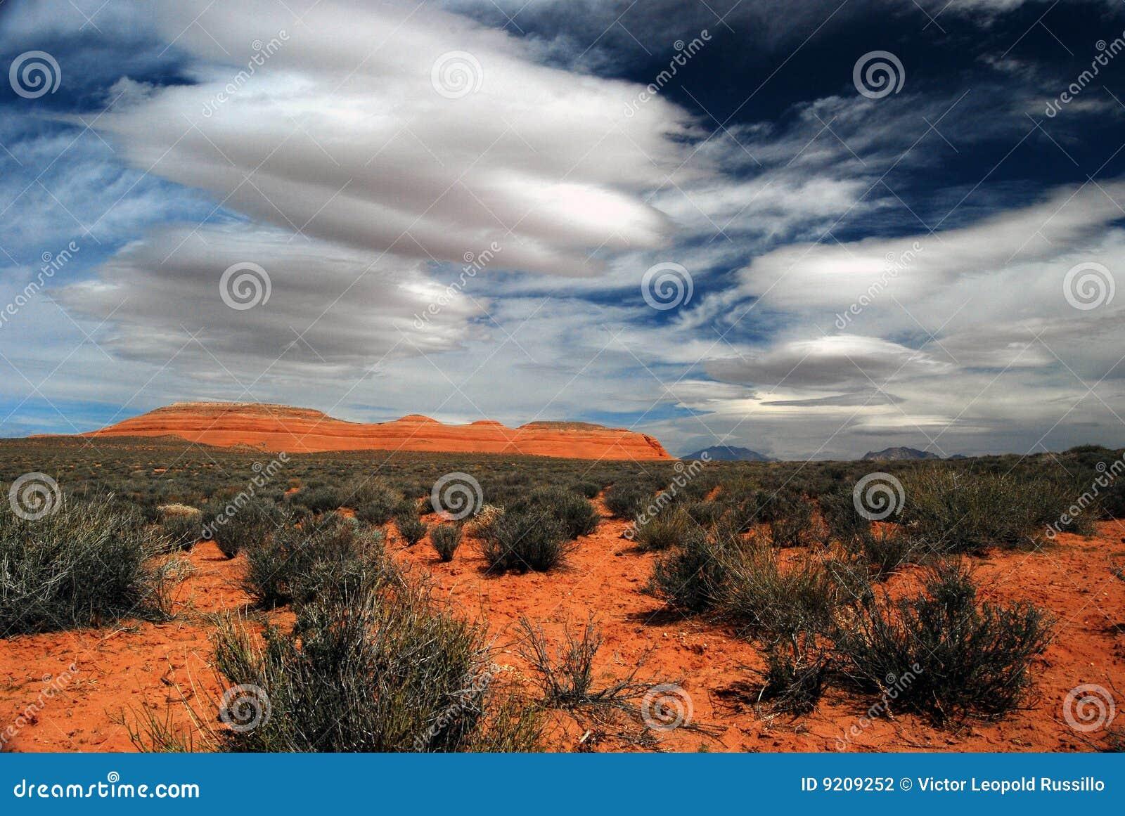 风景沙漠的mesa