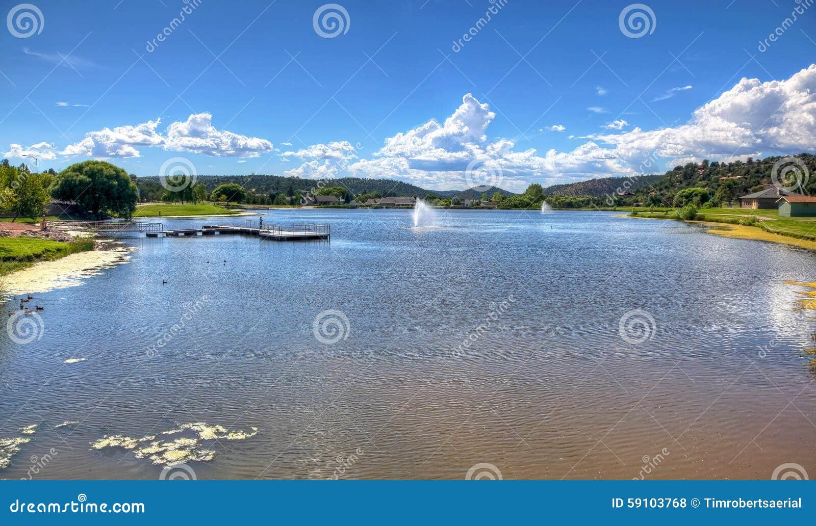 风景湖和休闲在佩森,亚利桑那
