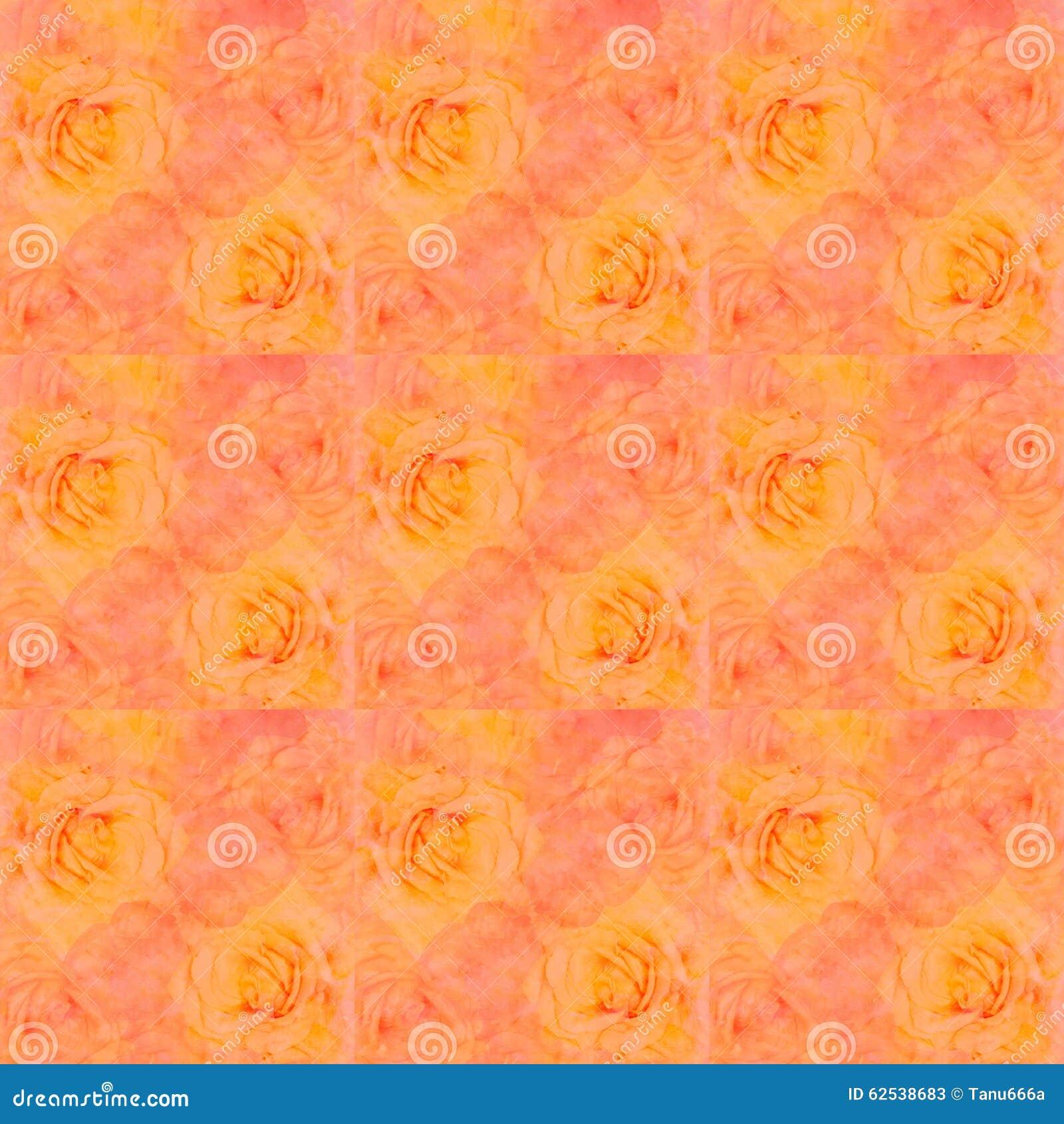 风景玫瑰水彩无缝的背景