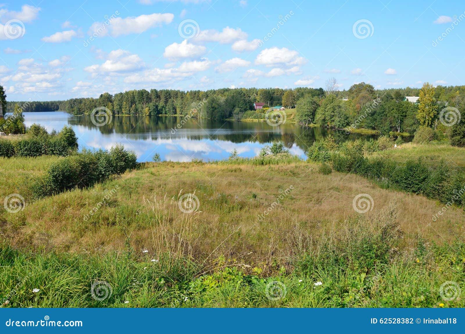 风景,早期的秋天,列宁格勒地区