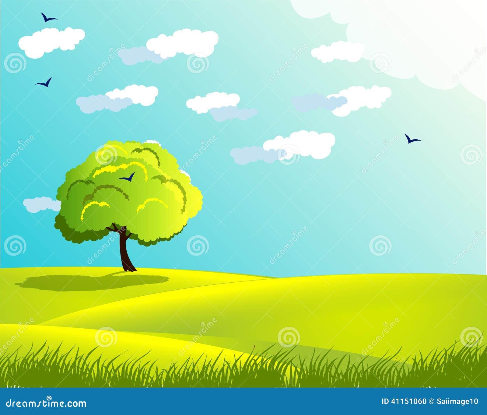 云彩美化与树太阳全国环境草本在另外颜色的草鸟.天空大型房地产设计公司图片