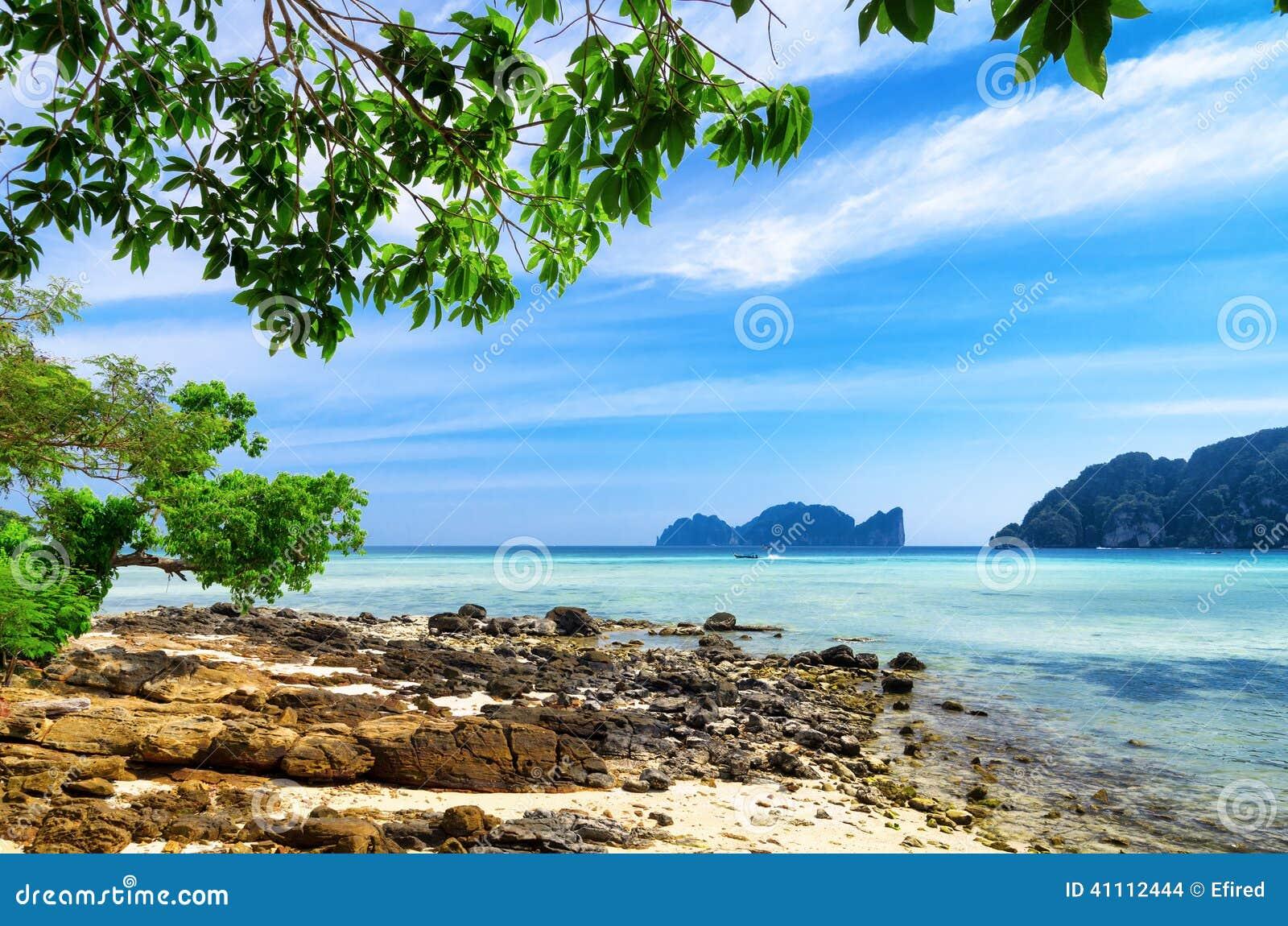 热带的横向 发埃发埃海岛,泰国.