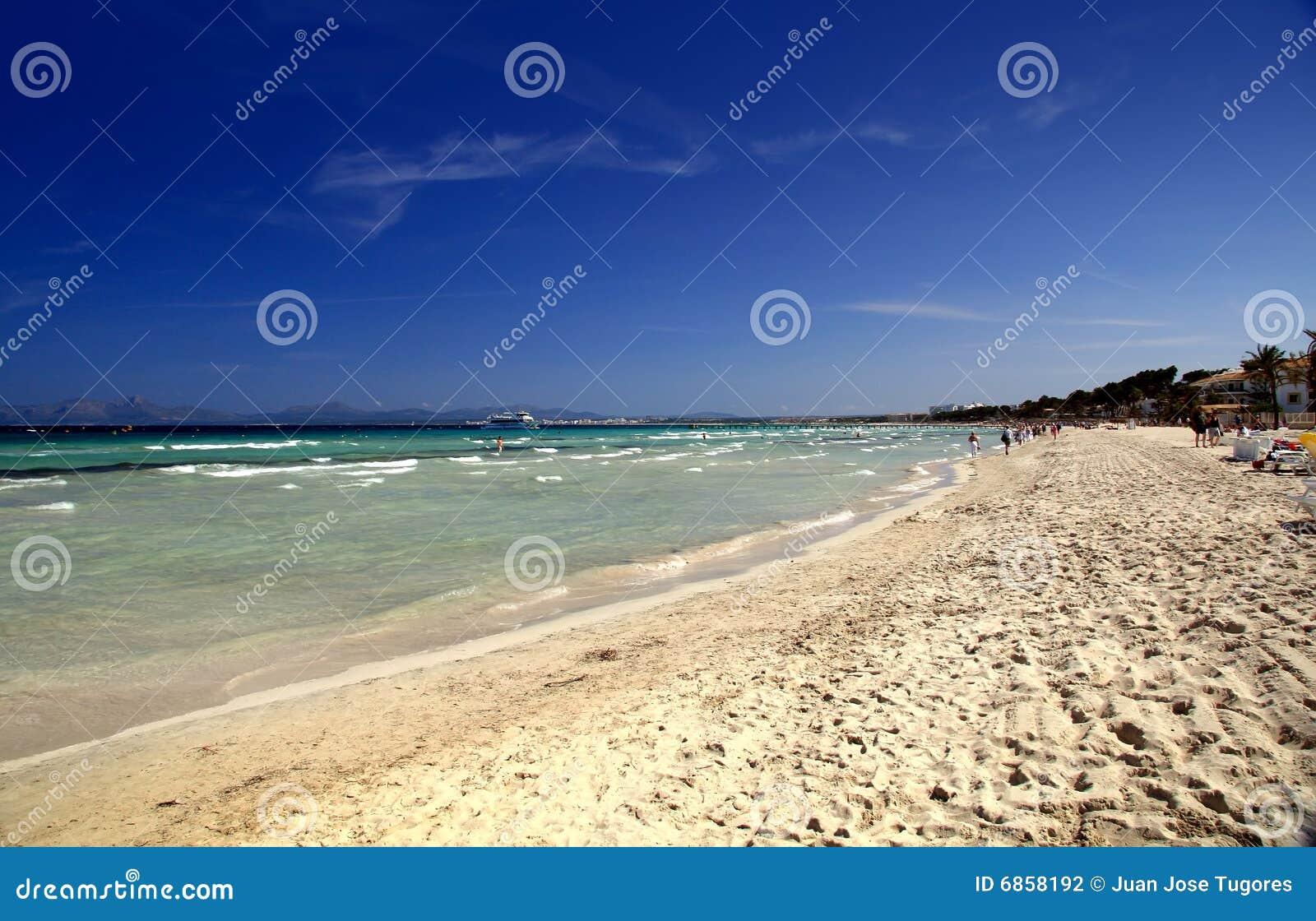 风景alcudia的海滩