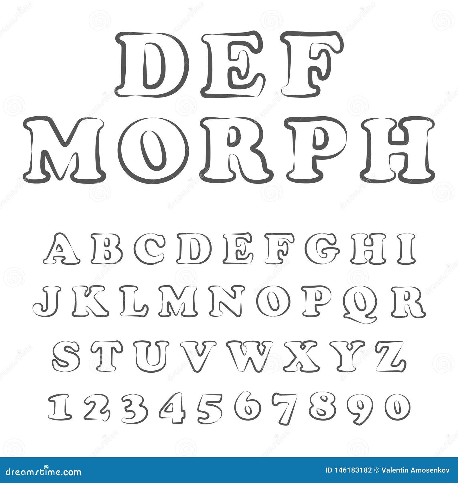 风格化大胆的字体和字母表传染媒介