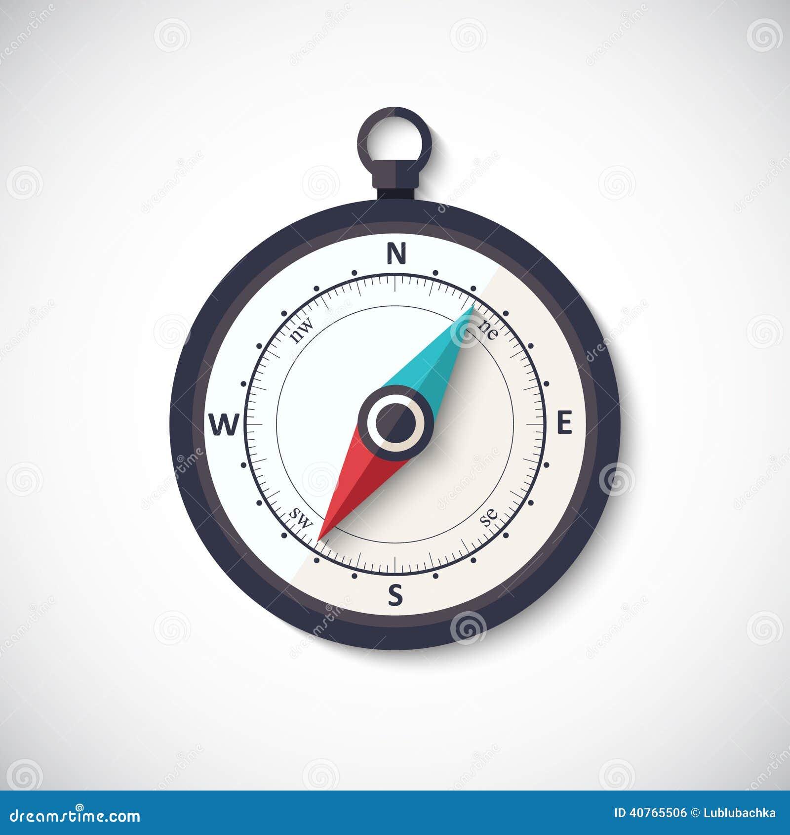 风玫瑰色指南针传染媒介平的时髦标志