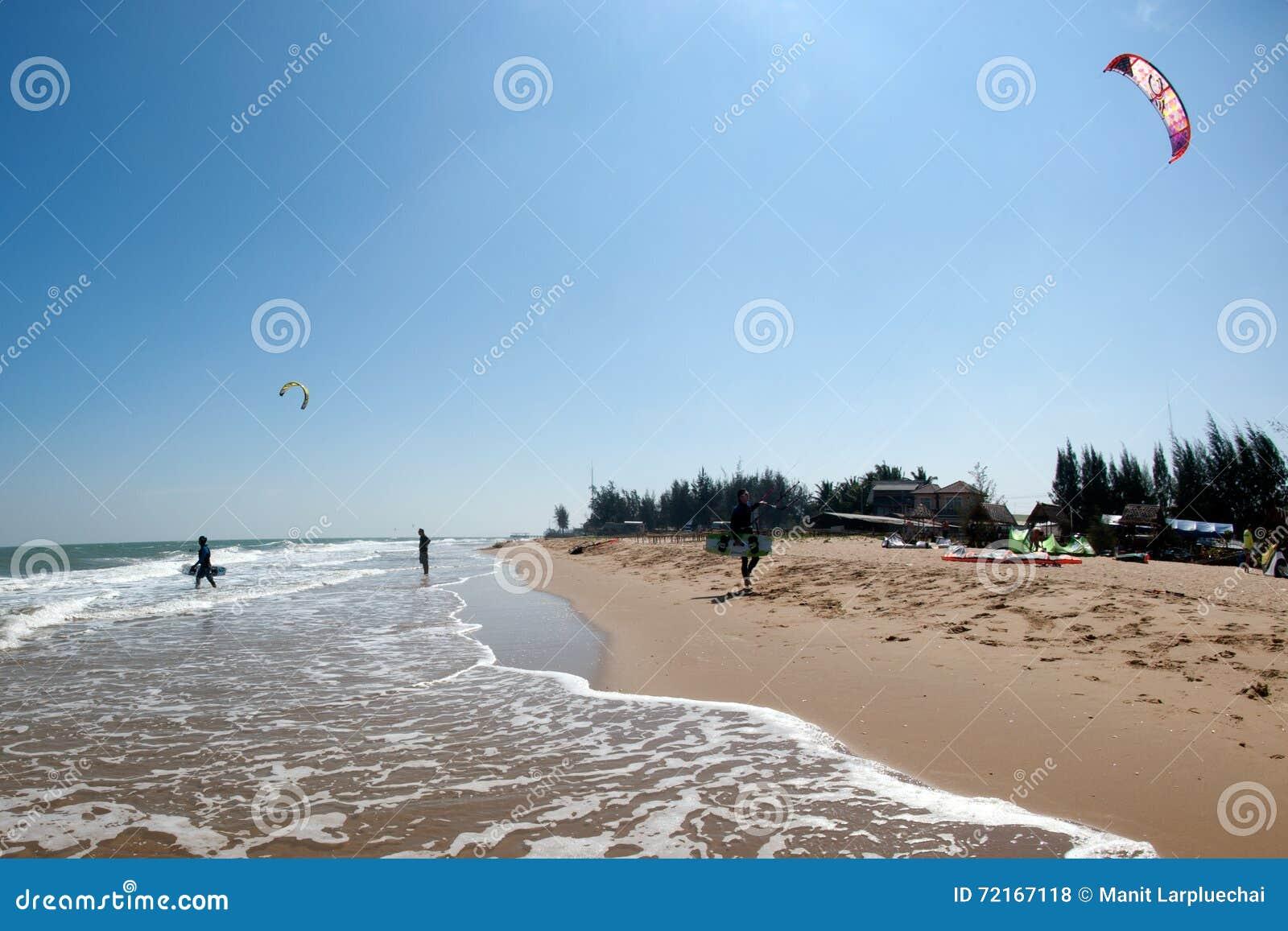 风筝海浪或风筝板,水上运动