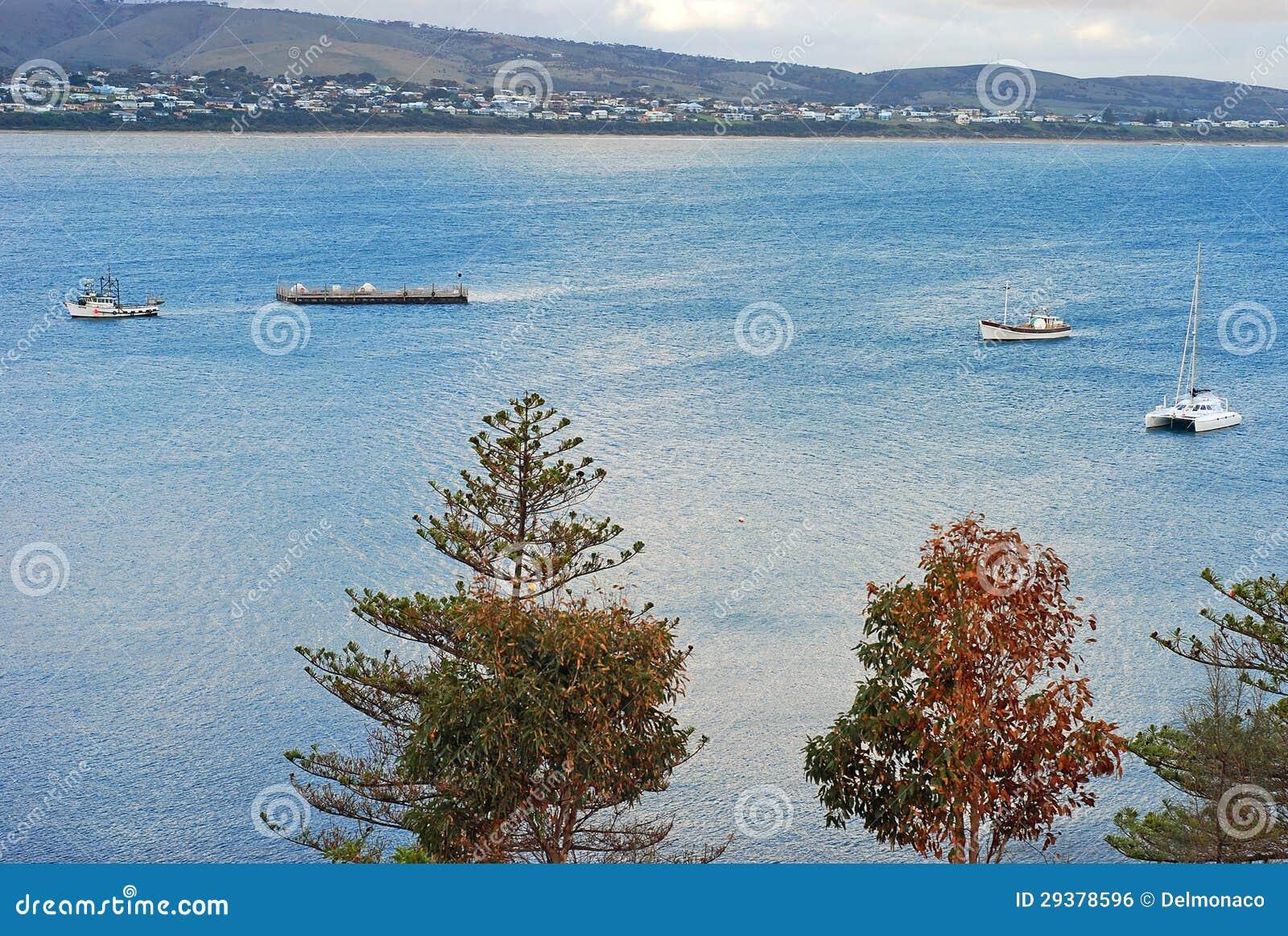 风船横向临近花岗岩海岛,胜者港口,南澳洲,澳洲