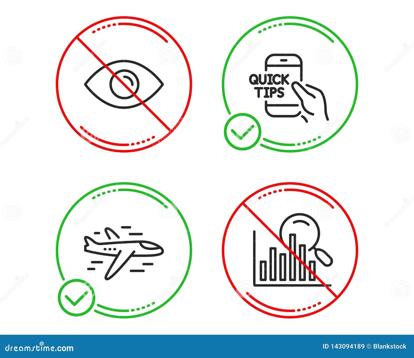 飞机、眼睛和教育象集合 查寻标志 飞机、看法或者视觉,快的技巧 安纳托利亚 向量