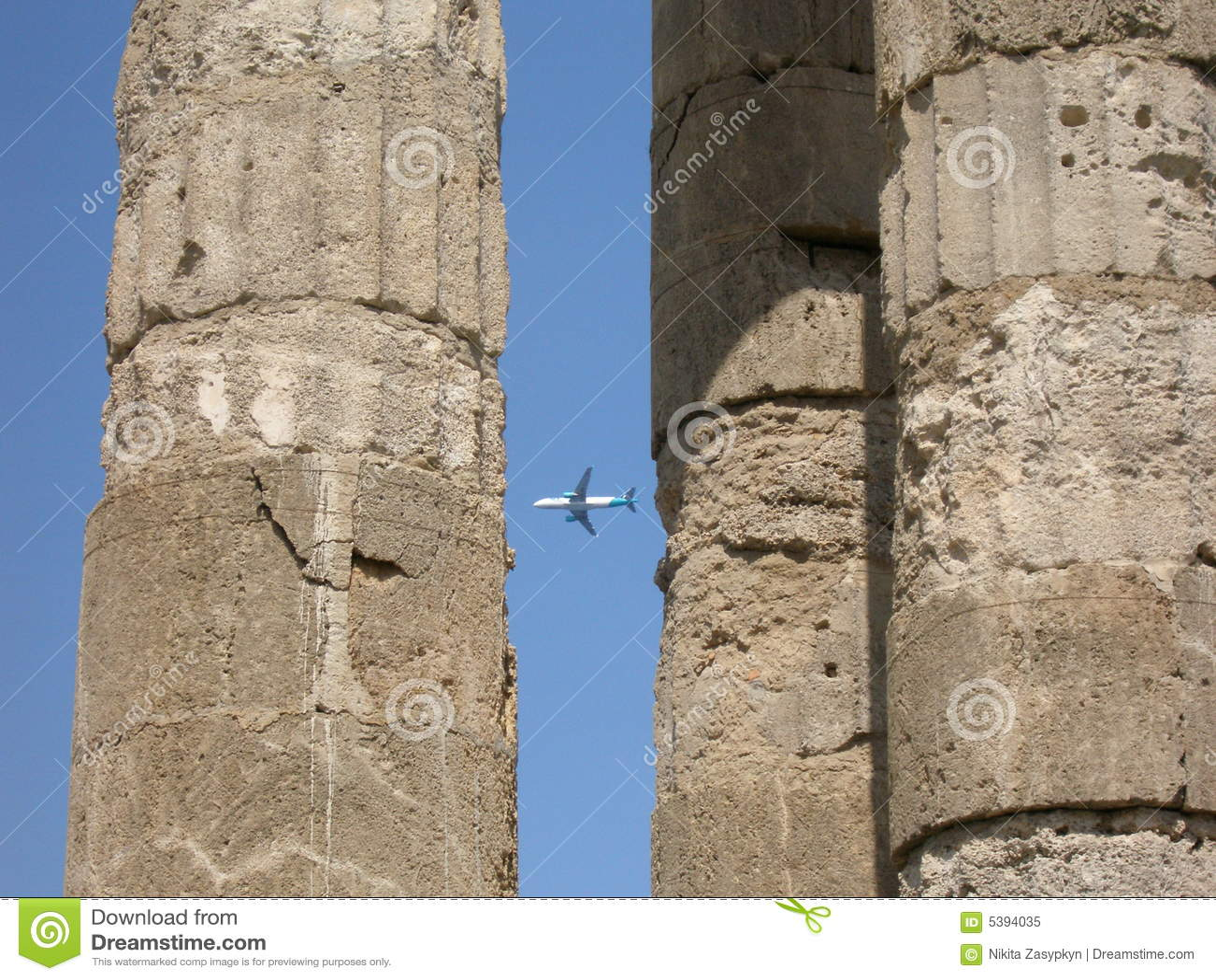 飞机古老城市