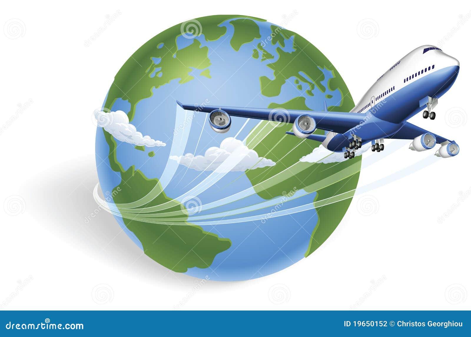 飞机概念地球