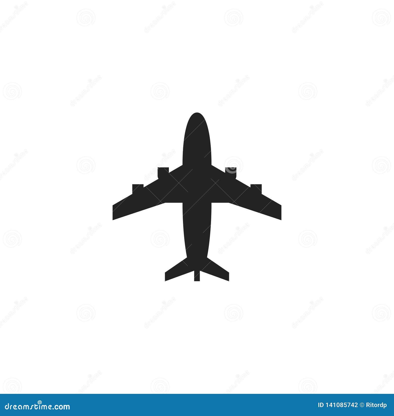 飞机纵的沟纹传染媒介象、标志或者商标