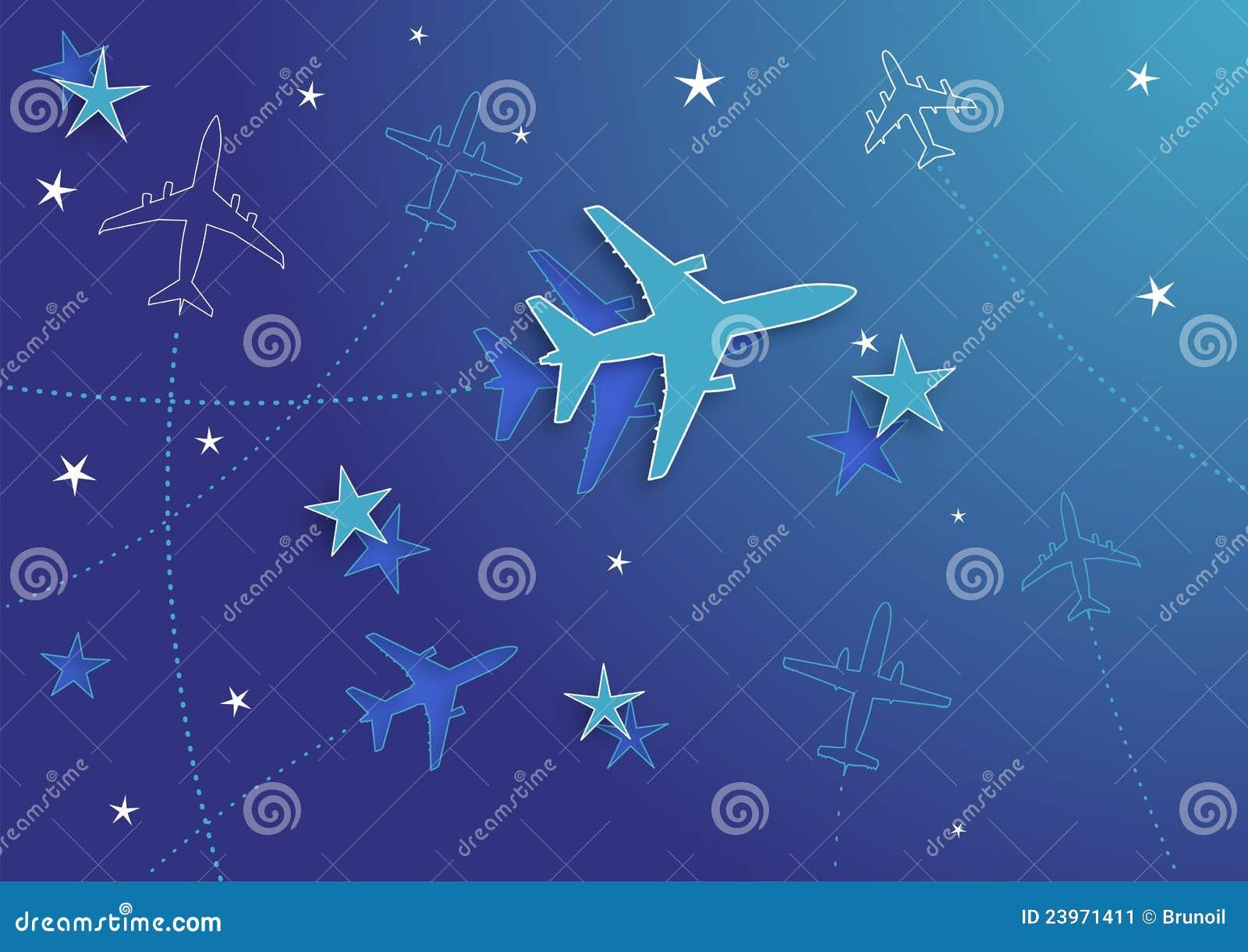 飞机的星形�yb�9�._10架飞机eps例证寻址星形v向量.