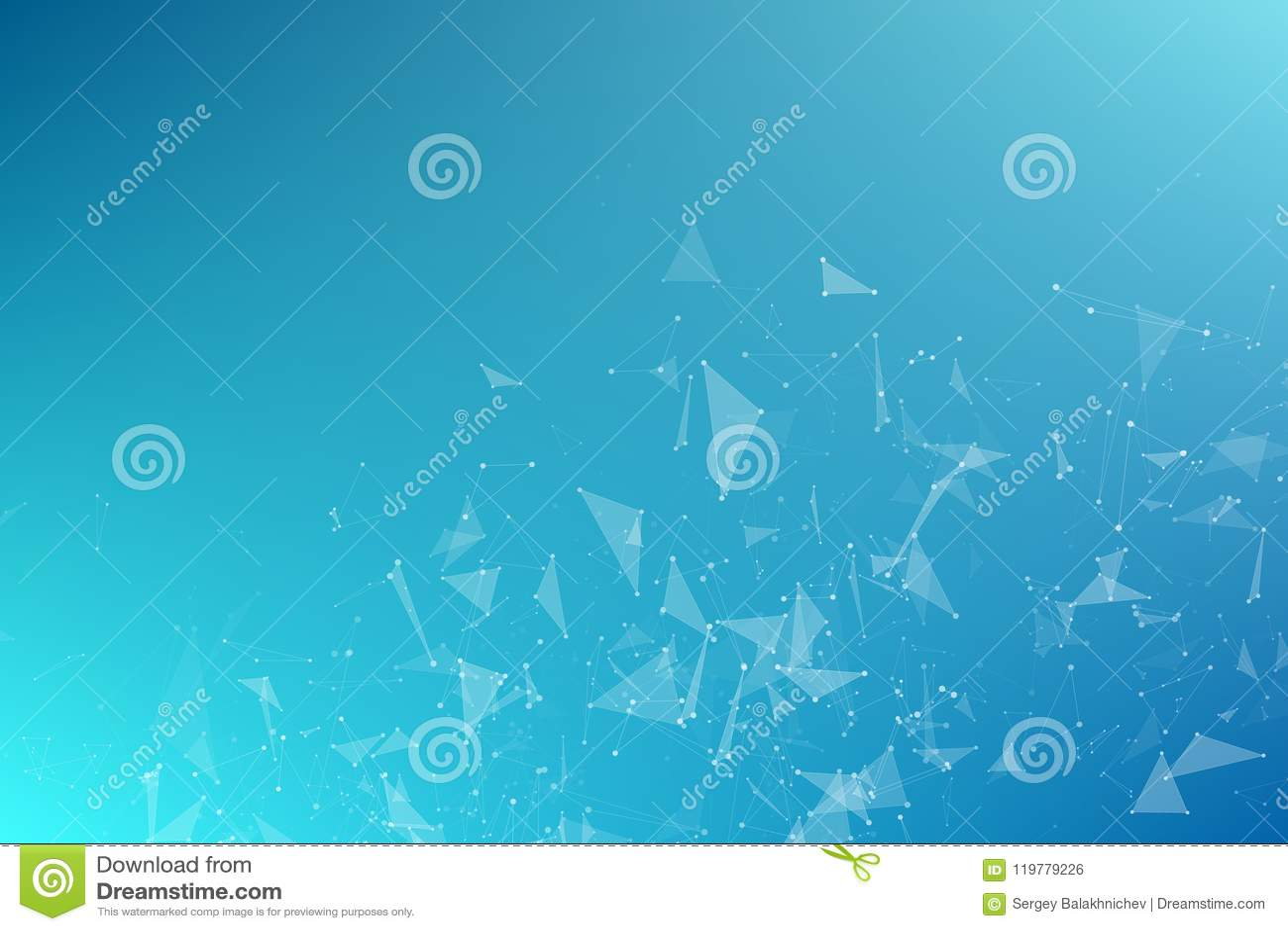 飞行三角抽象几何蓝色背景  被连接的三角 结节 您的设计的背景 传染媒介illustrati