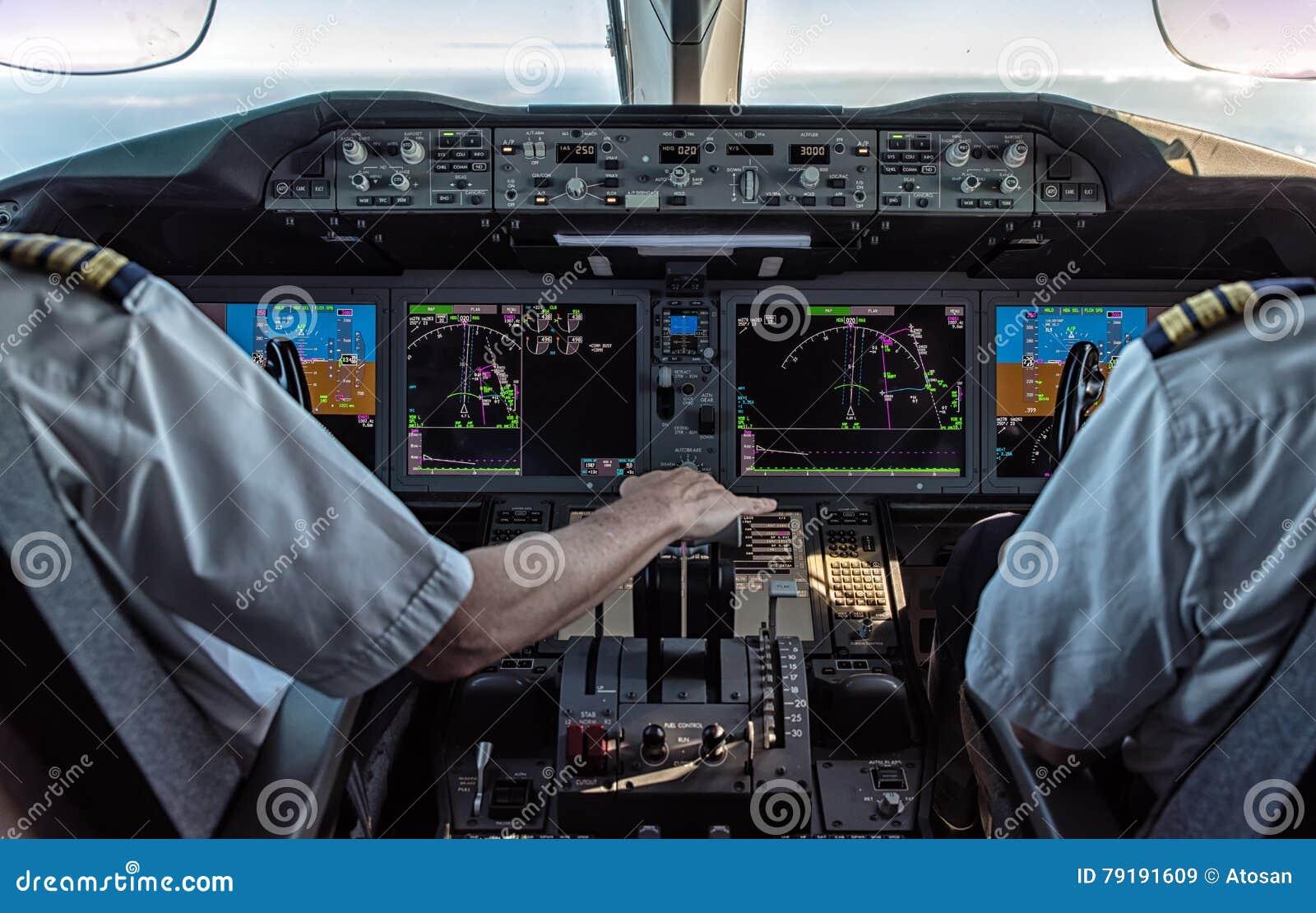 飞行员和副驾驶民航飞机的
