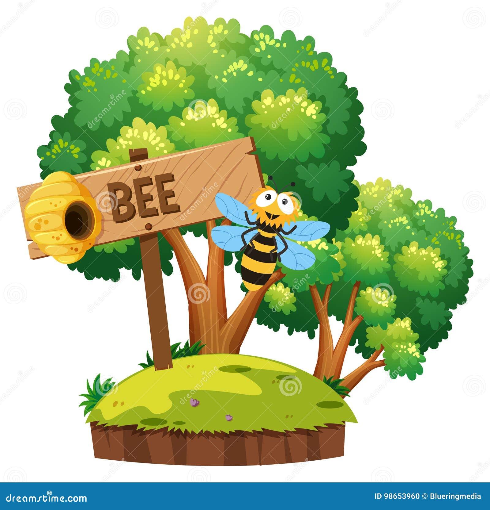 飞行在庭院里的蜂