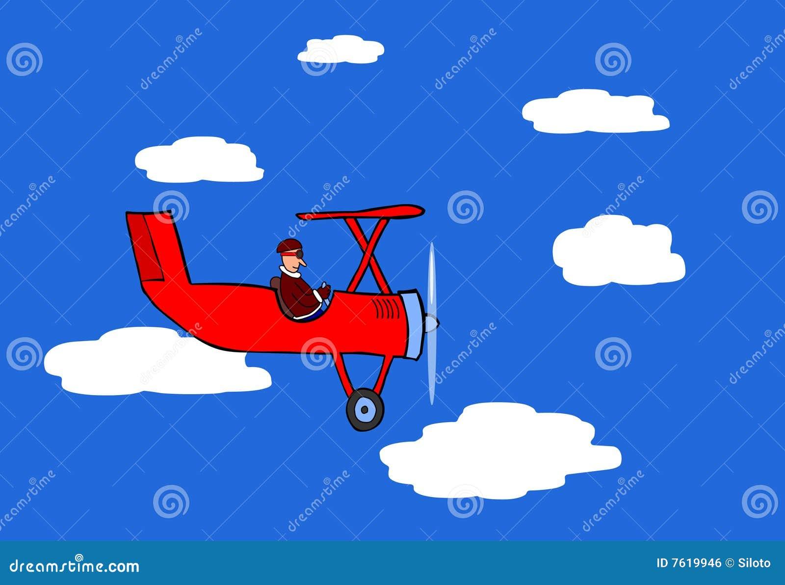 飞行平面红色向量