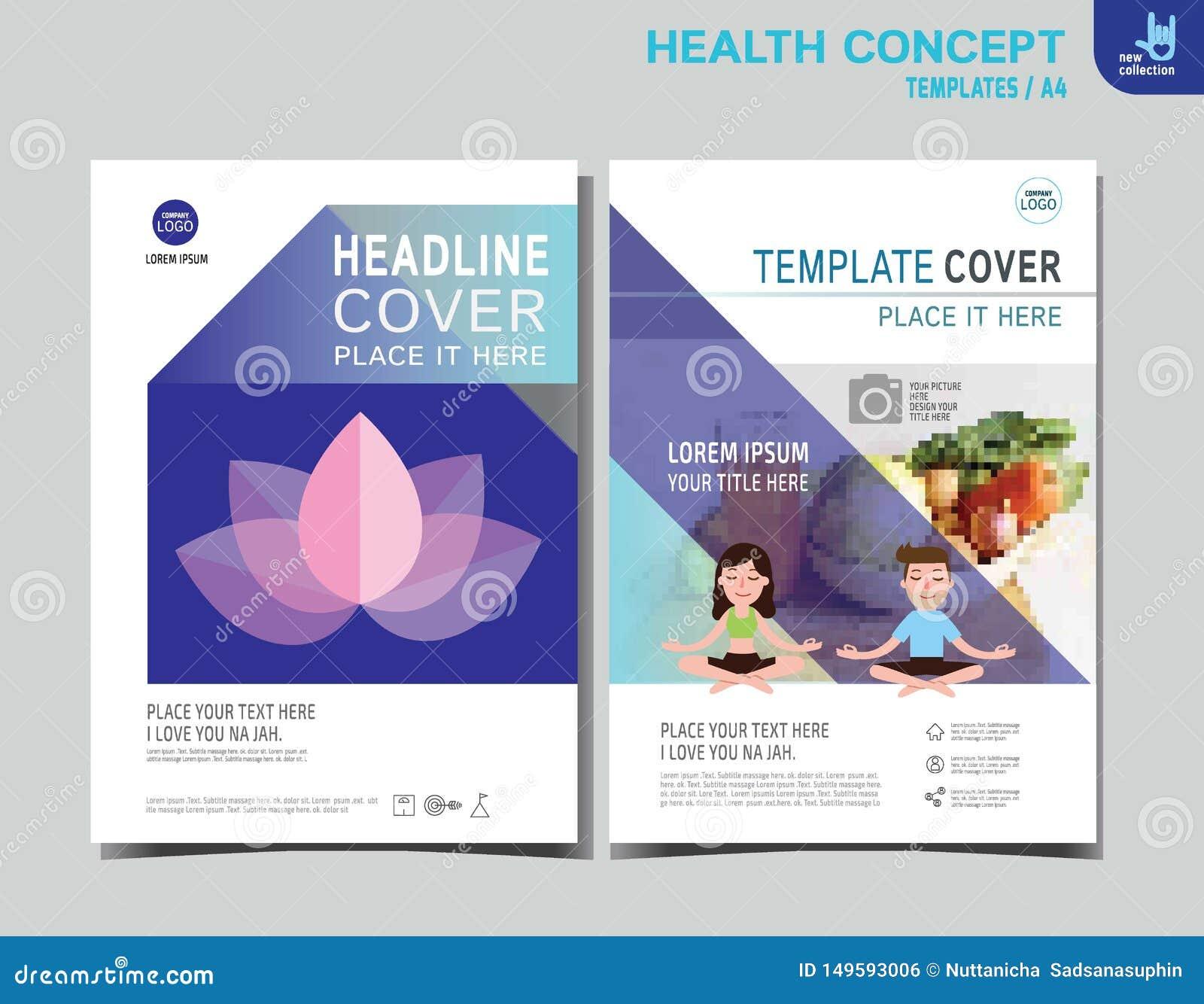 飞行物健康传单小册子模板A4大小设计