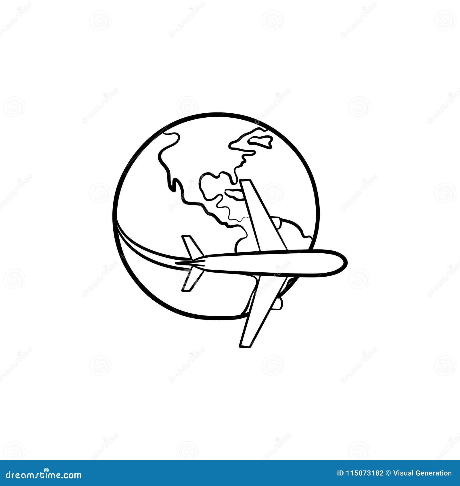 飞行环球手拉的象的飞机