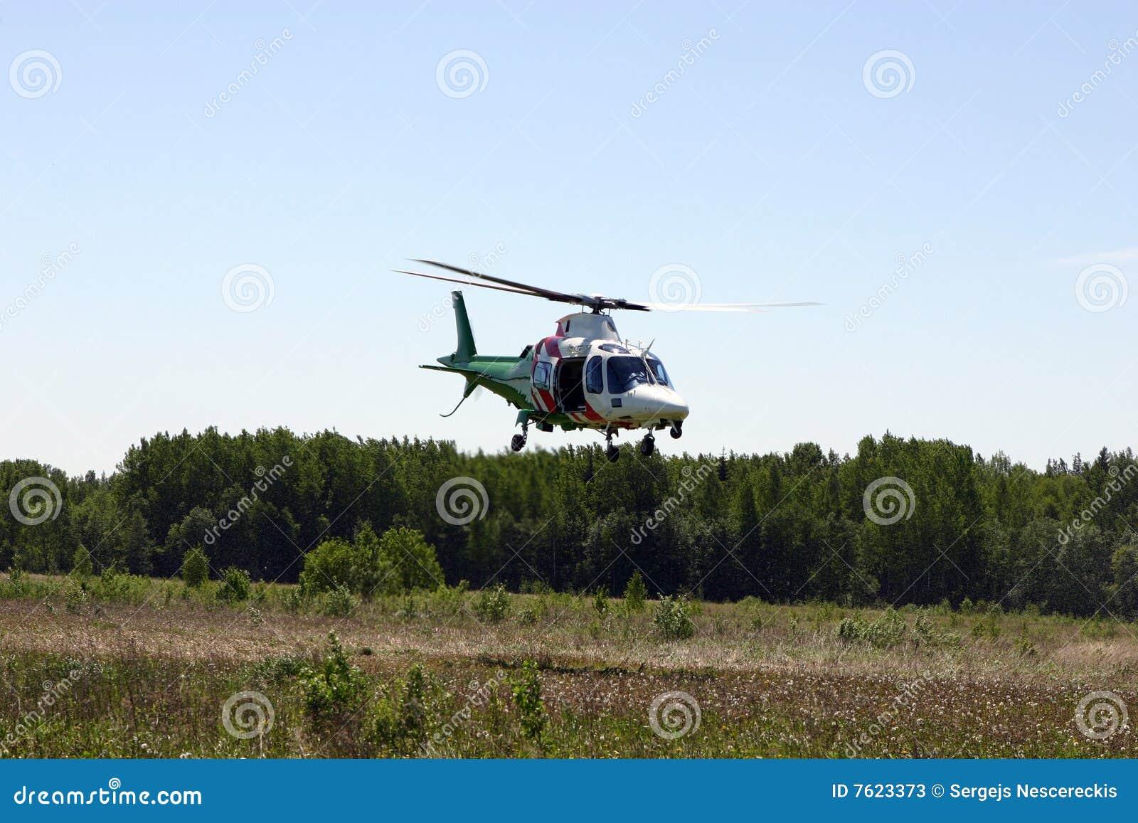 飞行直升机