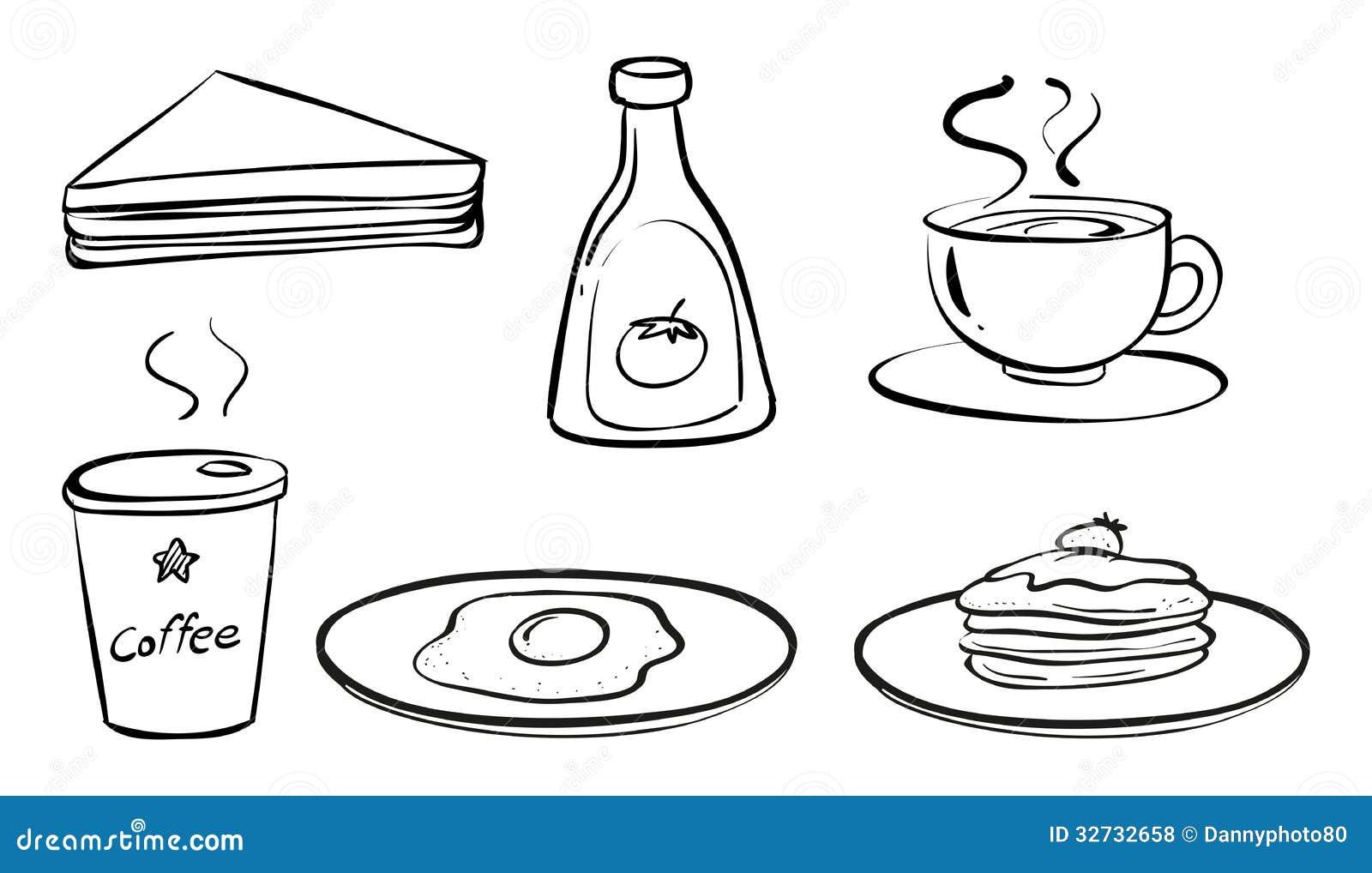Pistas Para Identificar Las Buenas Panaderías: 食物和饮料早餐 向量例证. 插画 包括有