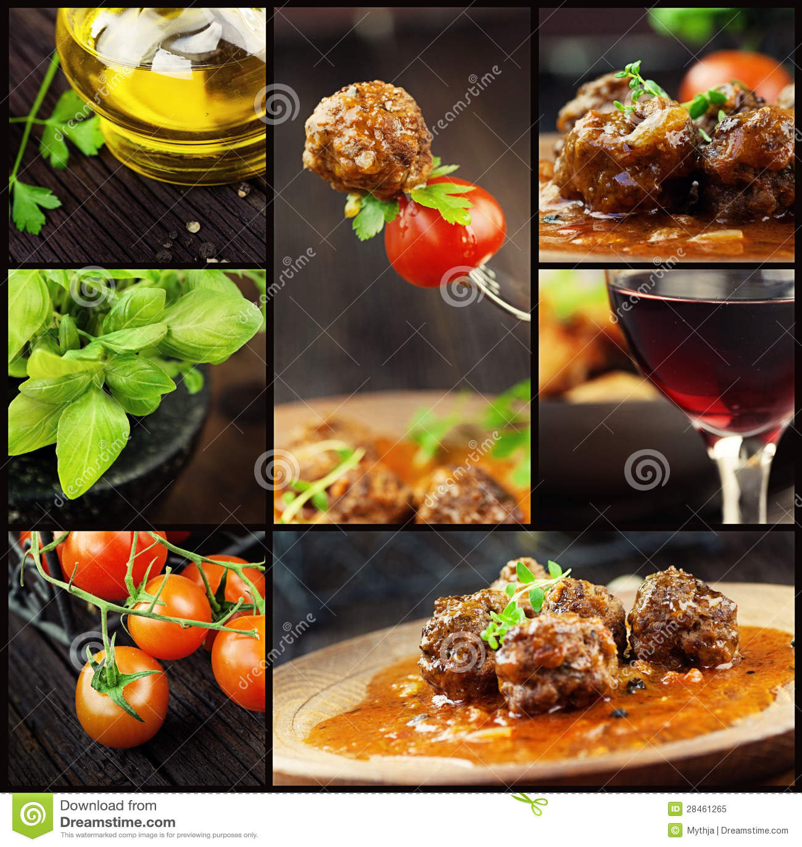 食物拼贴画-肉丸