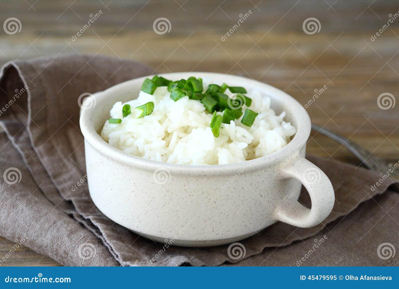 素食米用在碗的葱