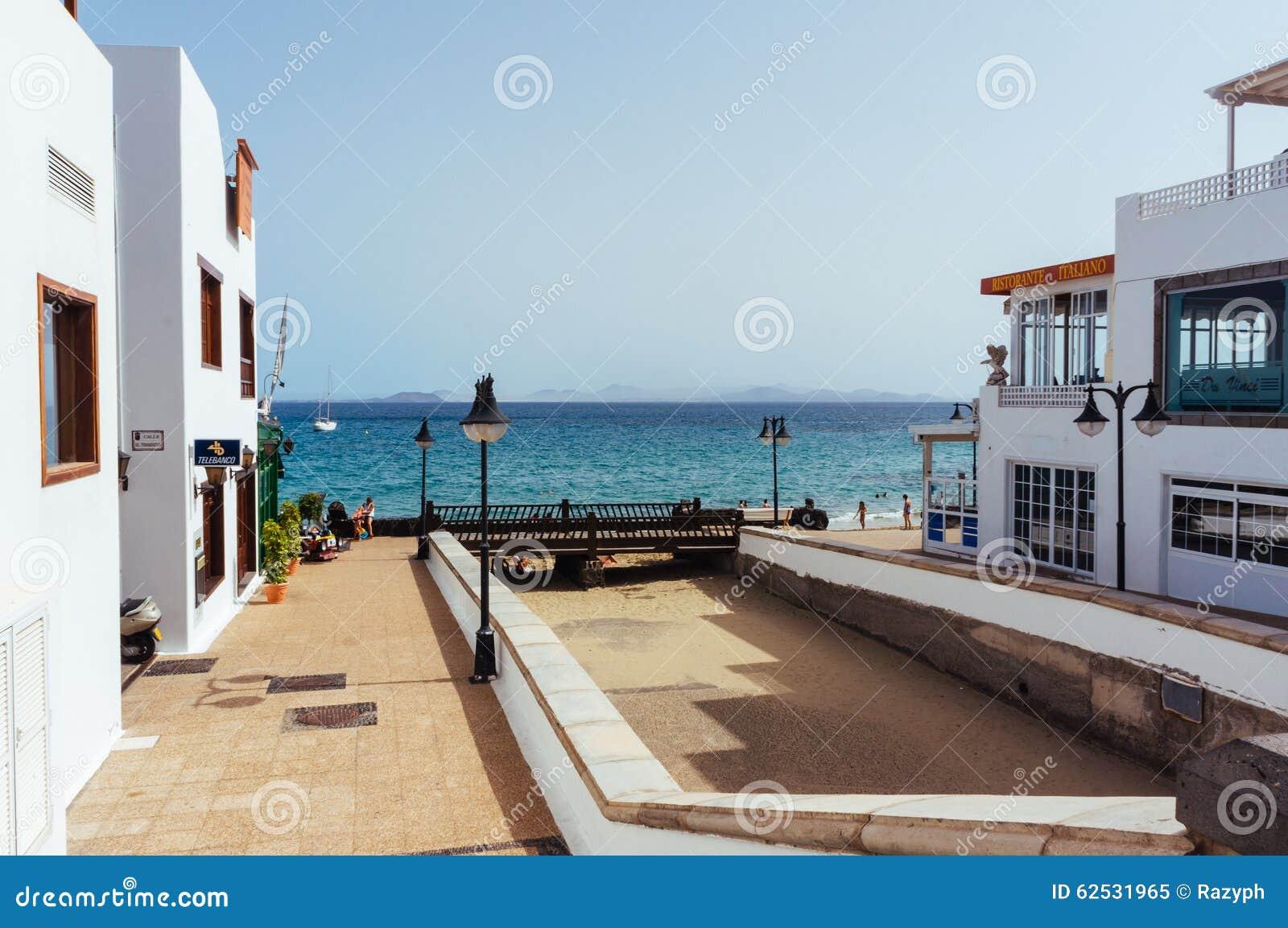 餐馆在兰萨罗特岛