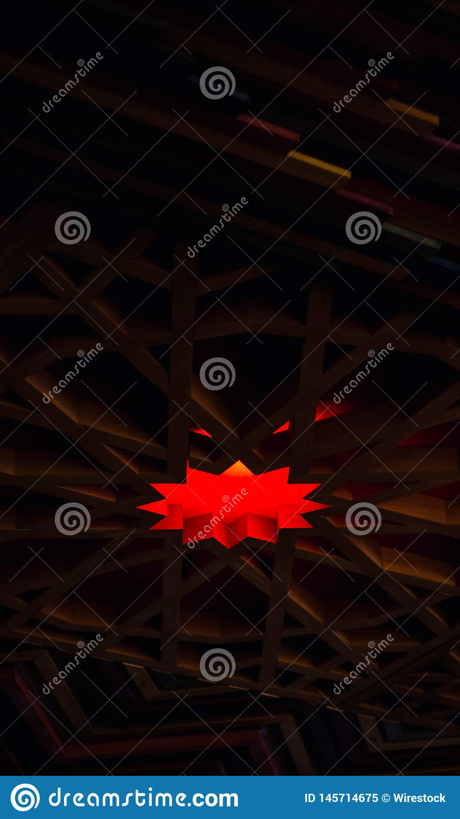 餐馆天花板的有趣的设计