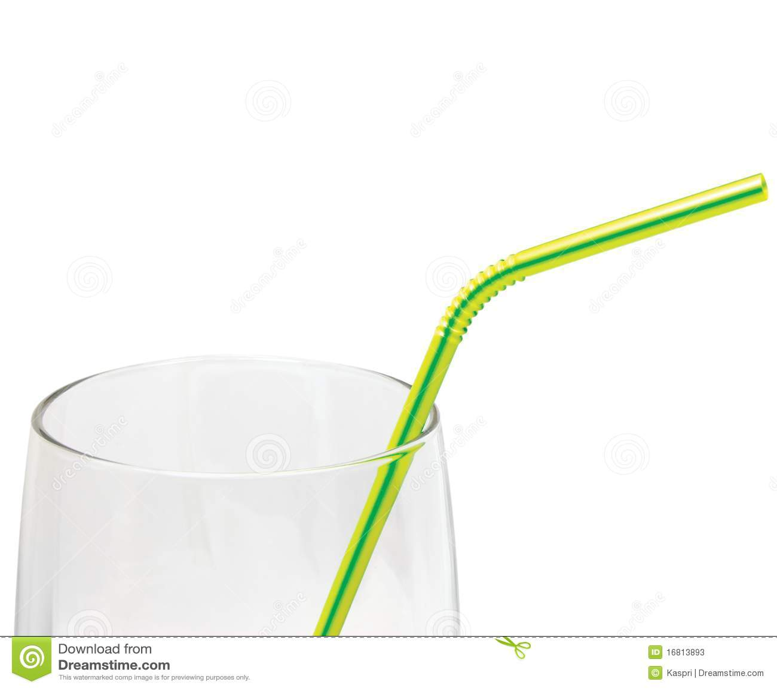 饮用的空的玻璃查出的宏观秸杆黄色