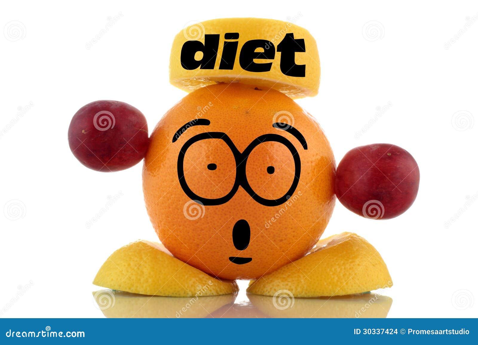 饮食时间。滑稽的果子字符。