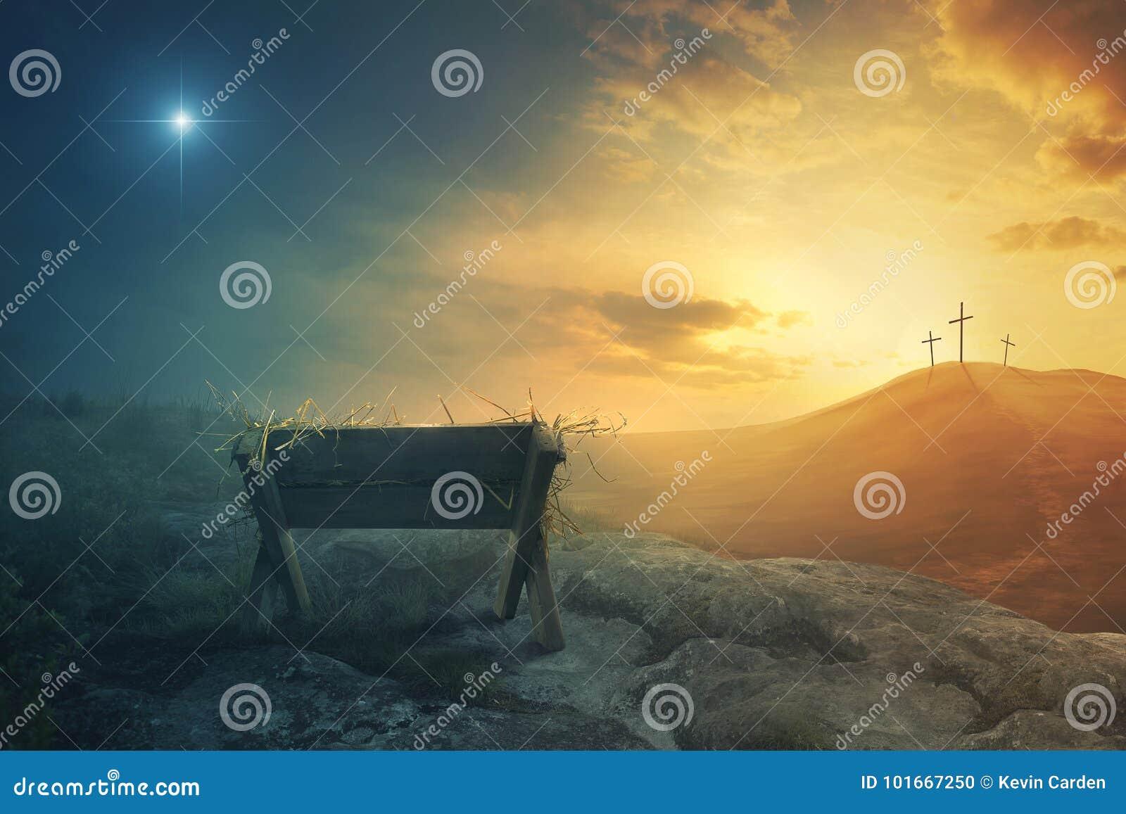 饲槽和十字架
