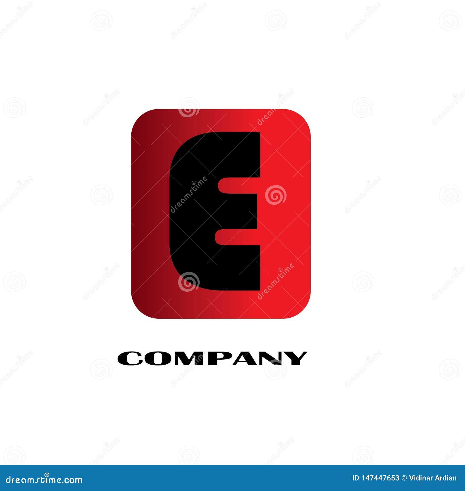 首写字母E连接的设计商标-传染媒介