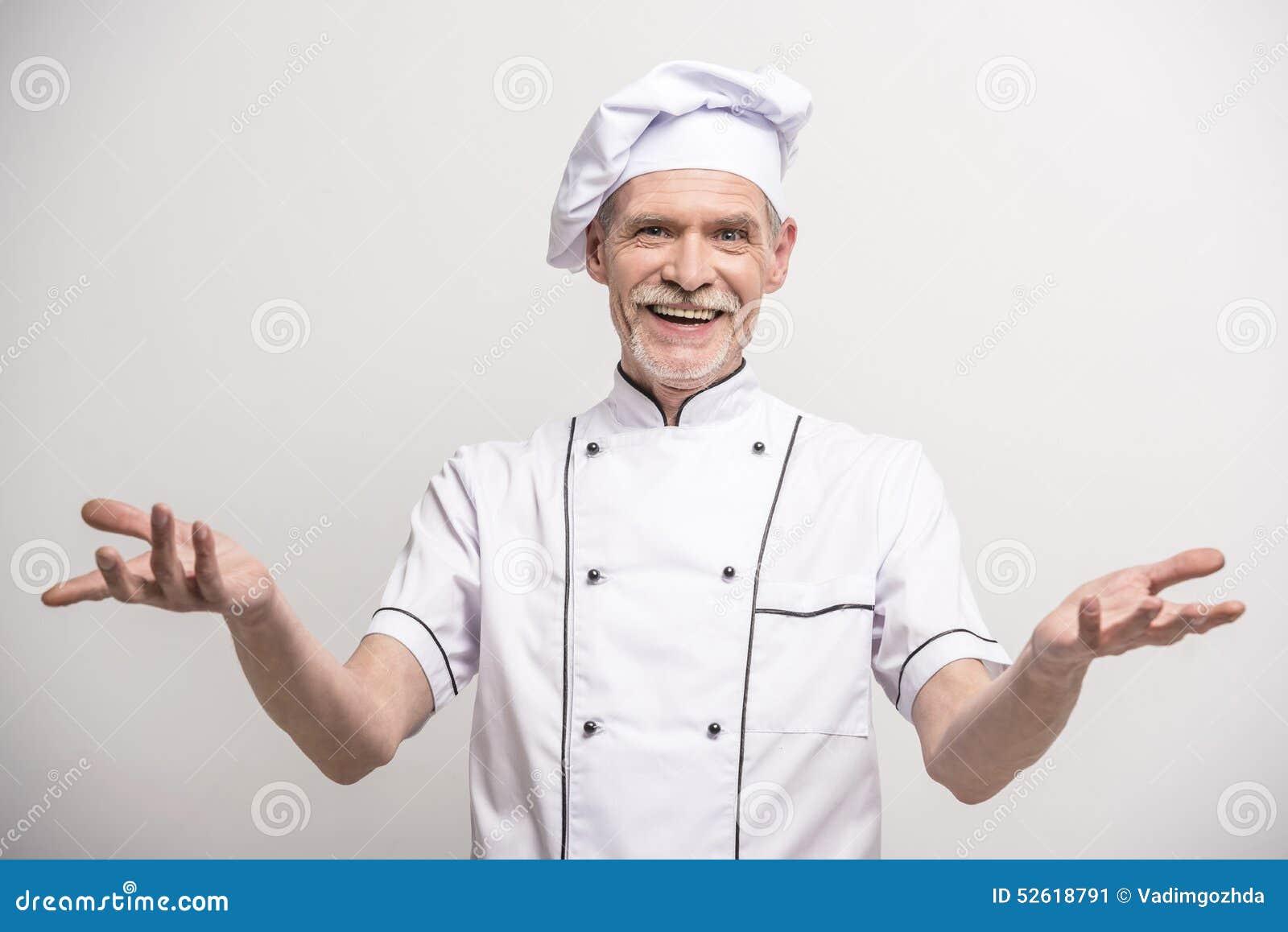 首要厨师查出的白色