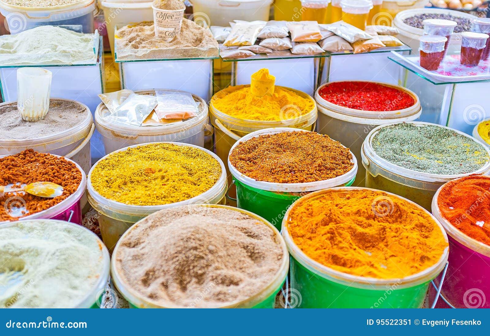 香料商店在逃兵` s市场上在第比利斯