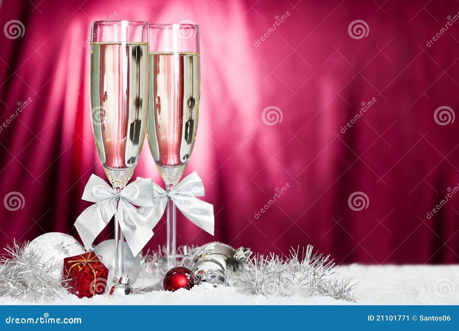 香槟圣诞节装饰玻璃