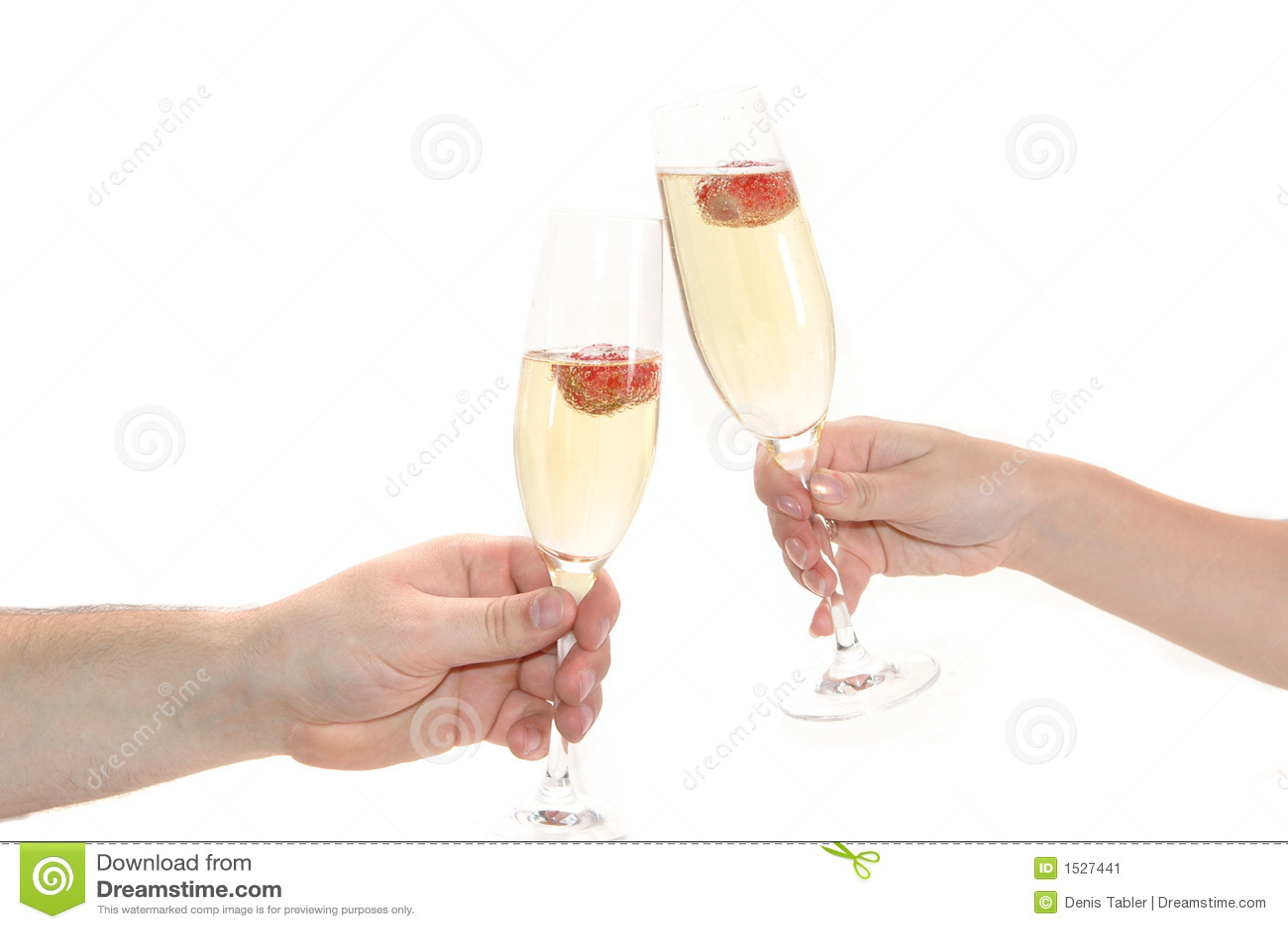 香槟玻璃草莓
