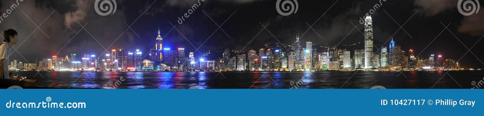 香港晚上地平线
