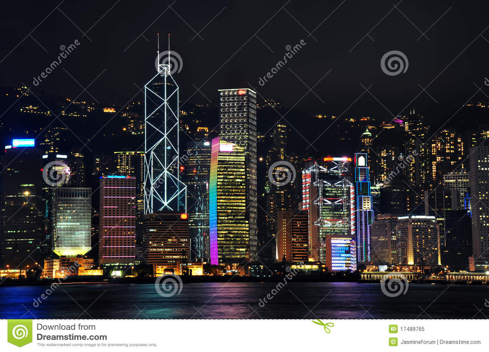 香港晚上场面